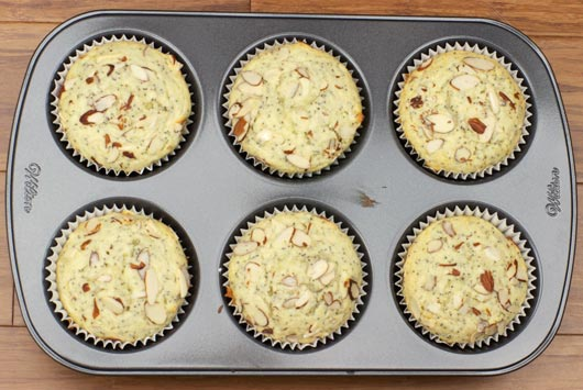 Almond Poppy Seed Muffins In The Tin