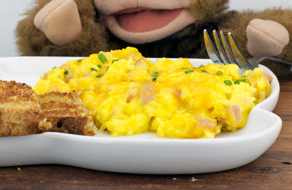 Cheesy Ham Scramble