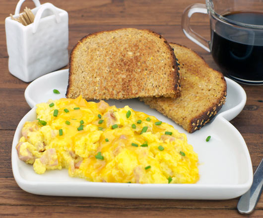Ham And Cheese Scrambled Eggs