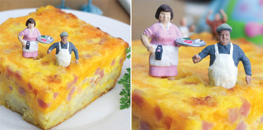 Wake-Up Breakfast Casserole Photographed With Tiny People