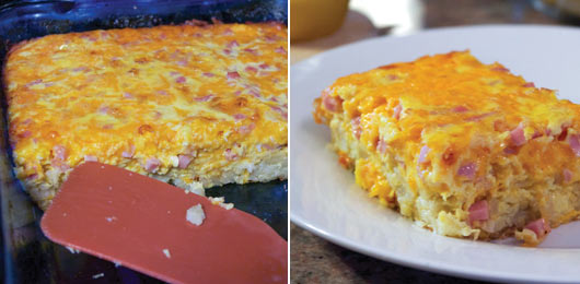 Wake-Up Breakfast Casserole With Ham And Cheese..