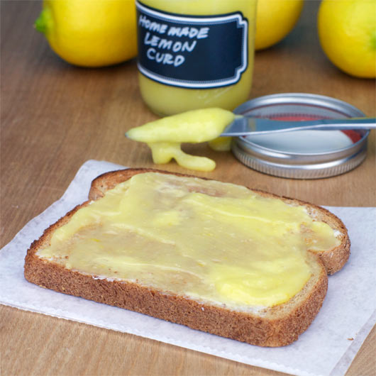 Homemade Lemon Curd On Toast