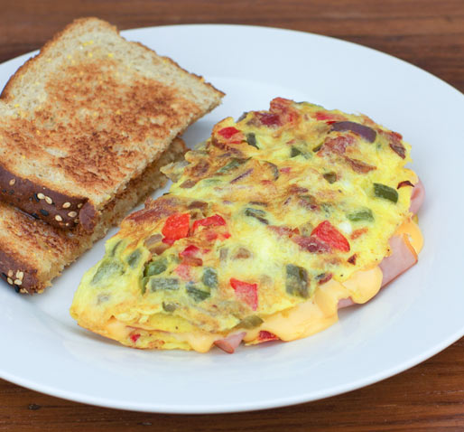 HAM CHEESE AND VEGETABLE OMELETTE - ham and cheese recipe