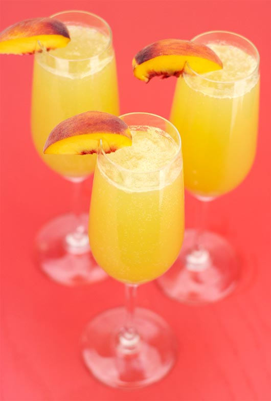 Three Peach Bellinis