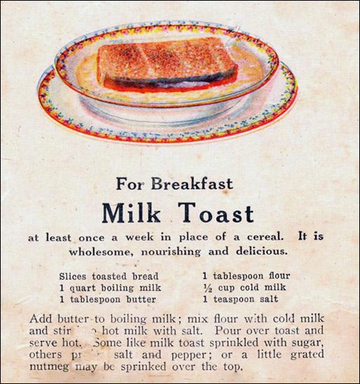 Milk toast recipe mrbreakfast vintage milk toast recipe forumfinder Image collections
