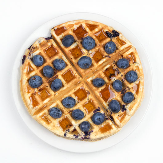 Better Blueberry Waffles