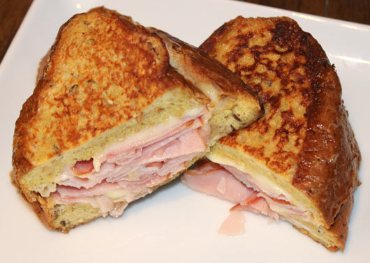 Ham & Swiss Stuffed French Toast