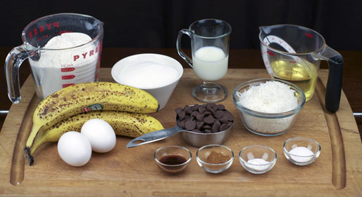 Banana Coconut Bread Ingredients