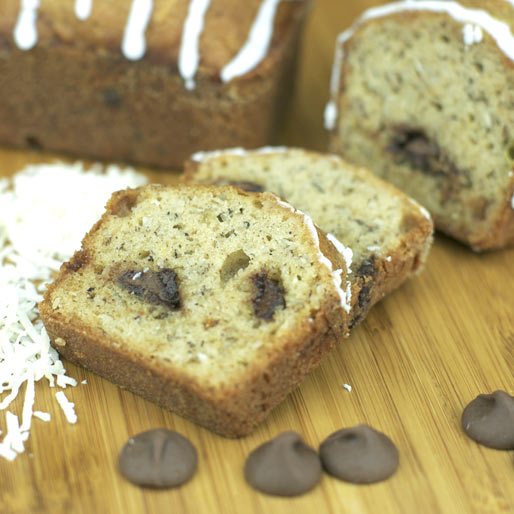 Slice of Banana Coconut Bread
