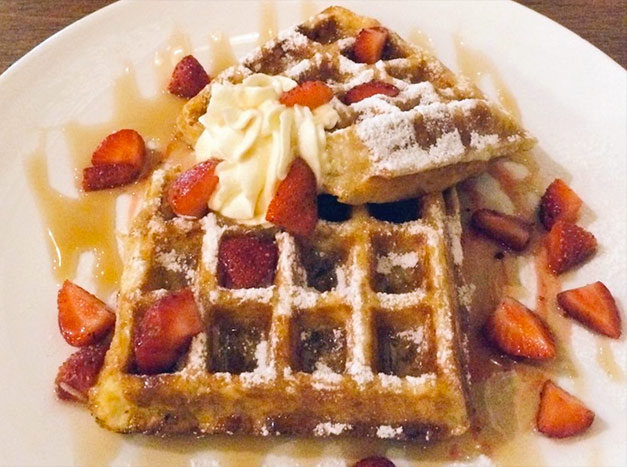 Strawberry Grapefruit Waffles