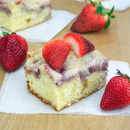 Piece Of Strawberry Coffee Cake