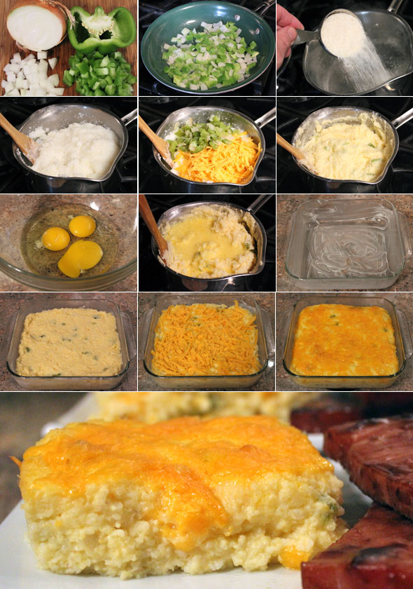 Making A Cheese Grits Casserole
