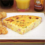 Ham & Grits Crustless Quiche