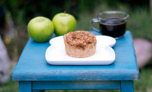 Apple Crunch Muffin On Small Table