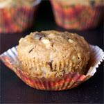 Muffin di crusca di mele