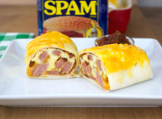 Spam Breakfast Burritos