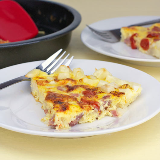 Hash Brown Frittata On A Plate