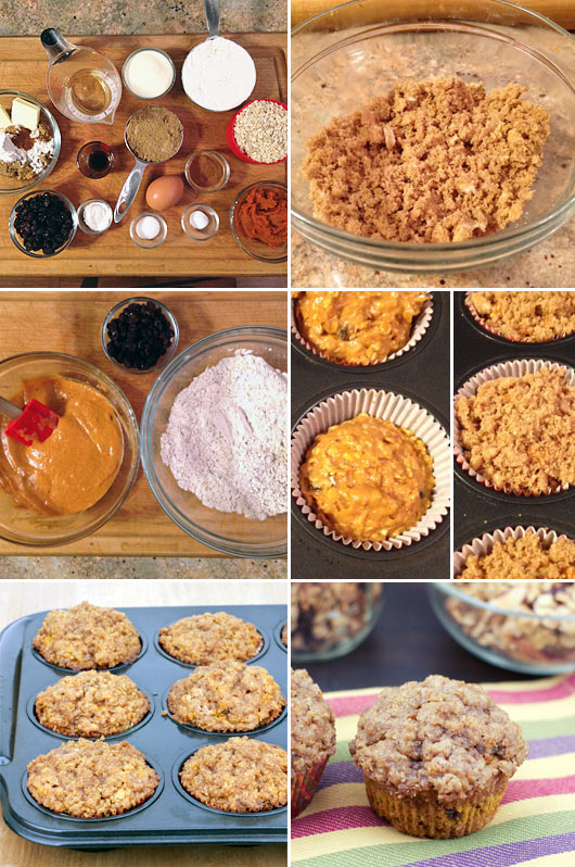 Making Pumpkin Oat Muffins