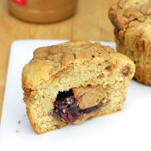 ... of each muffin, it makes for a nice peanut butter and jelly center