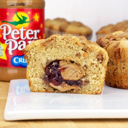 Peanut Butter & Jelly Muffins Recipe | MrBreakfast.com