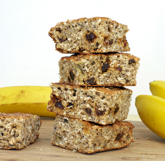 Banana Oat Bars Recipe | MrBreakfast.com