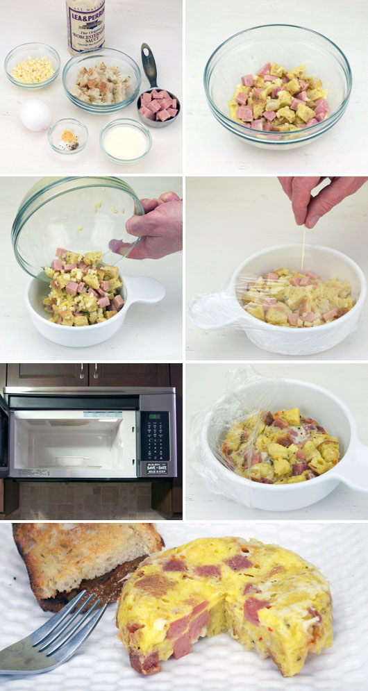 Making A Microwave Breakfast Casserole