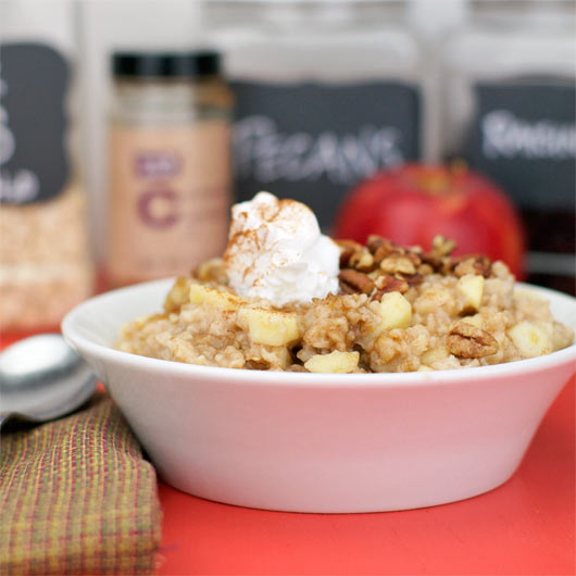 Microwave Apple Oatmeal