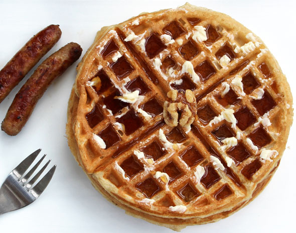 Maple Walnut Waffles Recipe | MrBreakfast.com