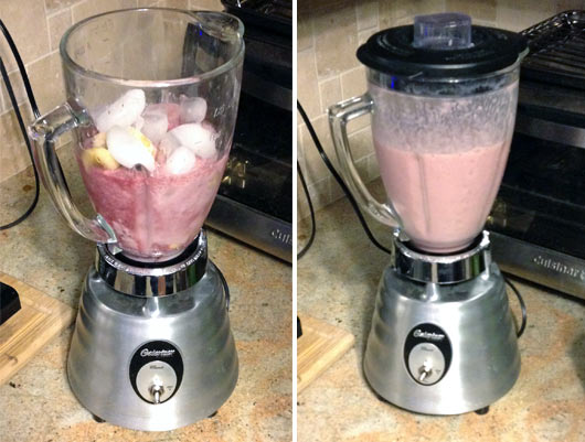 Making a Cranberry Orange Smoothie