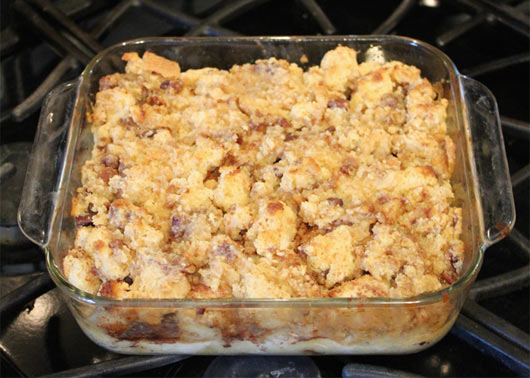 Breakfast Bread Pudding In The Pan
