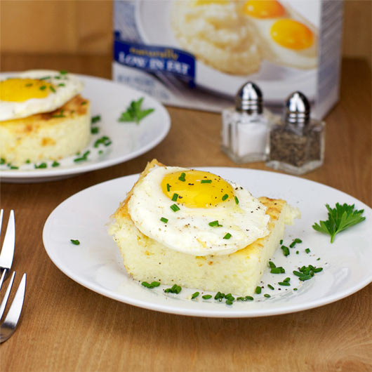 Baked Cheesy Grits With Sunny-Side-Up Egg