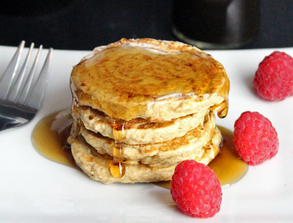 how to make pancakes without butter and baking powder