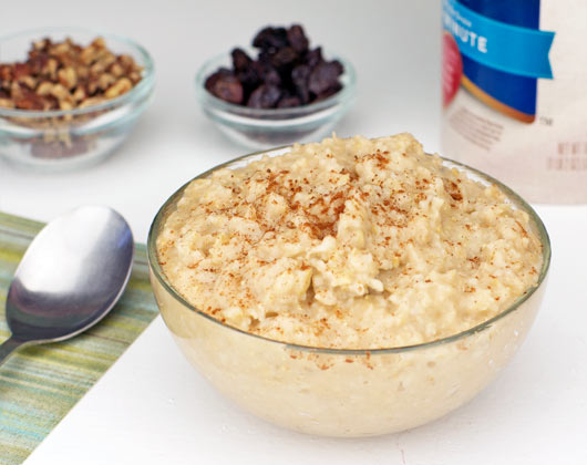 make oatmeal in the microwave using Old-Fashioned oats: combine oats ...