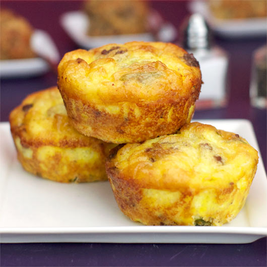 Scrambled Egg Muffins (aka Sausage, Egg & Cheese Muffin Frittatas)