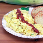 Eggs And Corn Scramble