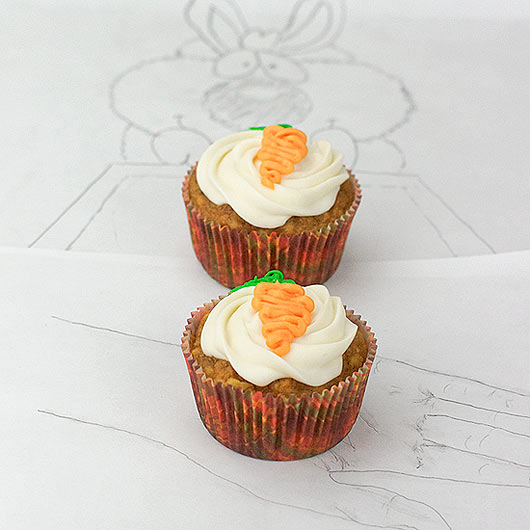 Two Carrot Cake Muffins