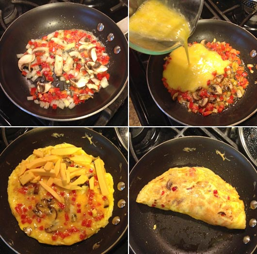 Making A Velveeta Omelet