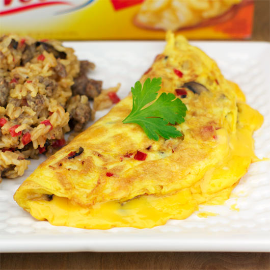 Velveeta Omelet With Breakfast Rice