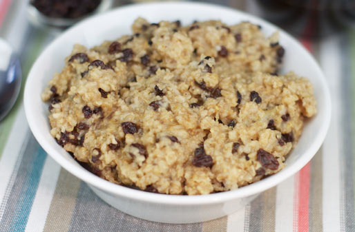 Cinnamon Currant Oatmeal Microwave Recipe