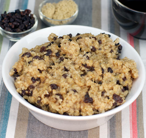 Cinnamon Currant Oatmeal Microwave