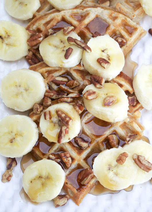 Great with butter and maple syrup or topped with banana slices and ...
