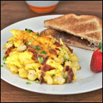 Bacon and Hominy Scramble