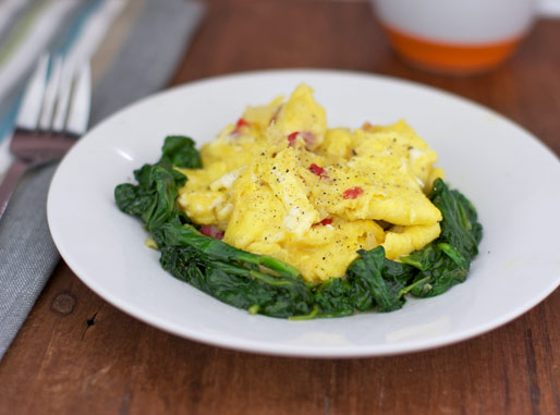 Low Carb Spinach Scramble