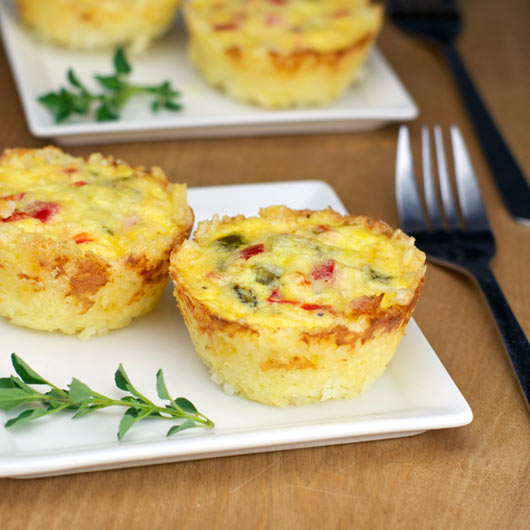 Rice And Egg Breakfast Cups