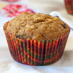 Raisin Bran Applesauce Muffins