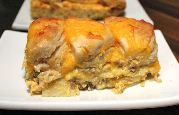 Biscuit-Topped Breakfast Casserole