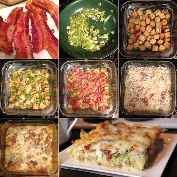 Overnight Egg Casserole With Croutons
