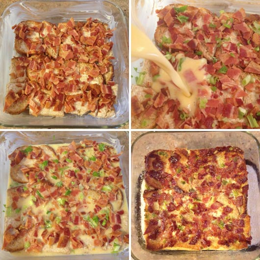 Making A Bacon And Egg Breakfast Casserole