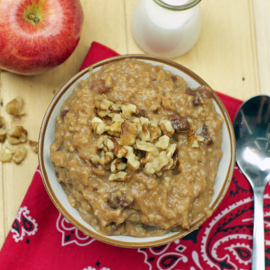 Crockpot Steel Cut Apple Oatmeal