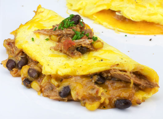 Chili Cheese Omelet - Side View
